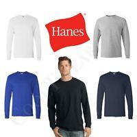 New Hanes Comfortsoft Men CrewNeck Long Sleeves Plain T-Shirt 5286