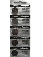 5 Pack Energizer Cr1632 Ecr1632 1632 3V Lithium Coin Battery Expire 2025