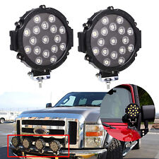 "LED Offroad 7""in Round 510W Work Truck Lights Bar Spot Pod Fog Jeep ATV Driving"