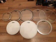 Evans Used Drum Heads Toms G1 & EC2