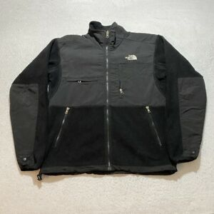 The North Face Denali Full Zip Jacket Size S Black Embroidered Fleece Cotton