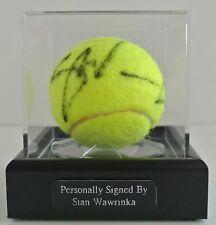 Stan Wawrinka Signed Autograph Tennis Ball Display Case Sport AFTAL & COA