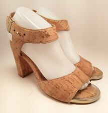 d79ac99ecadc ... BlackMaterial  Leather. Elaine Turner Cork Wedge Strappy Heel Open Toe  Size 8