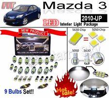 9 Light Super Bright LED SMD Interior Light Kit Package For Mazda 3 2010~up