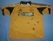 AUSTRALIA National Cricket Team / 2009 Home - ADIDAS - MENS Shirt / Jersey. XL