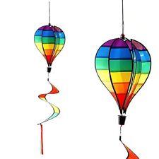 Windspiel Ballon bunt ca. Ø 26 cm Windspinner Windspirale Garten Deko Heißluftba