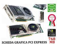 SCHEDA GRAFICA PCI EXPRESS  NVIDIA QUADRO 768MB FX 4600 DDR3 DUAL-DVI TVO