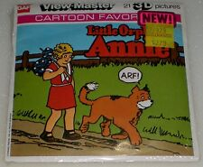 VINTAGE VIEW-MASTER 3D REEL PACKET J21 LITTLE ORPHAN ANNIE CARTOON NEW SEALED