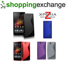 S-Line Clear Silicone Soft Gel Case Cover for Sony Experia Xperia Z L36H Grip