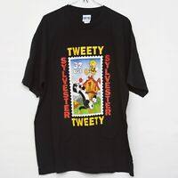 Looney tunes sylvester and tweety bird stamp collection vintage xl tshirt