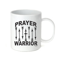 Coffee Cup Mug Travel 11 15 oz Prayer Warrior Christian Arrows Pray