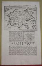 PELOPONNESE GREECE 1661 LAUREMBERG ANTIQUE ORIGINAL COPPER ENGRAVED MAP