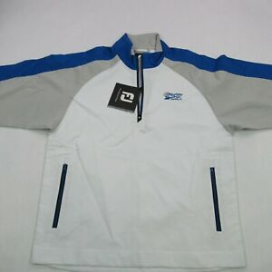 Footjoy Golf Mens Pullover Shirt 1/4 Zip Long Sleeve Golf White Small NWT