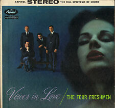 "THE FOUR FRESHMEN ""VOICES IN LOVE"" VOCAL JAZZ 50'S LP CAPITOL ST 1074"