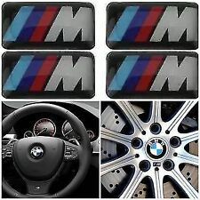 4x BMW M SPORT ALLOY WHEEL BADGES/EMBLEM/STICKERS SERIES 1 2 3 4 5 6 X3 X5 X6
