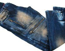 Rockstar - Leo Biker Jeans Button Fly - RSM-238-ORT - ($420) - 39 x 33 (actual)