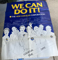 "Vintage Chrysler ""We Can Do It!"" Poster Sign Dealership Advertisement 47""x36"""