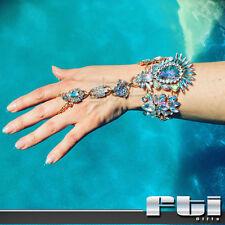 1Pc Fashion Jewelry Crystal Rhinestone Finger Ring Wrist Hand Chain Bracelet