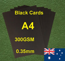 12 X A4 Black Paper Card Board 300GSM 0.35mm For Craft Invitation  Card