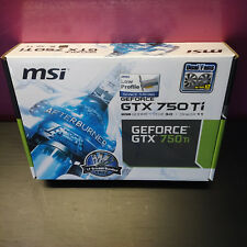 MSI GeForce GTX 750 Ti n750ti-2gd5tlp Nouveau neuf dans sa boîte 2 ans garantie Commerce spécialisé
