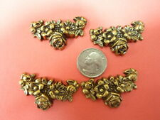 antiqued brass stamping  finding  FLOWER CLUSTER  embellishment AB47