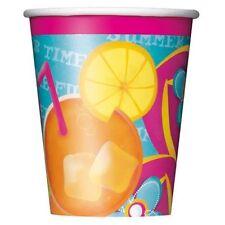 Pool Party 8 9 oz Hot Cold Paper Cups Beach Ball Splash Summer Fun