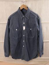 US Navy ww2 Chambray shirt m1940 bordo Camicia Camicia Jeans Grigio Blu Taglia L