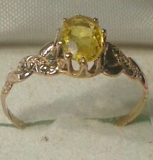 1.25ct. Natural yellow sapphire in a 14kt. gold ring setting WAS $339 CLOSE OUT