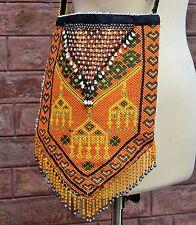 Vintage Afghan Kuchi Boho Hippie Banjara Tribal ATS Beaded Tassals Ethnic Bag