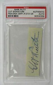 Babe Ruth Signed Auto Autograph Cut Signature PSA/DNA D73126