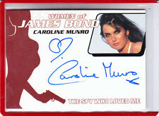 "2002 WOMEN OF JAMES BOND CAROLINE MUNRO ""NAOMI"" WA32  AUTOGRAPH AUTO"