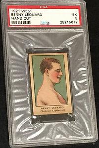 1921 W551 BENNY LEONARD *HOF* BOXER PSA 5 **RARE** POPULATION SHARP & CLEAN