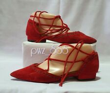 CHRISTIAN LOUBOUTIN Suede Strappy Dollshoes Shoes Flats Size 37