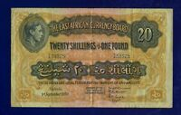 East Africa British 20 Shillings 1950  PIC30B VERY FINE(-) ES-2
