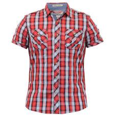 Camisas y polos de hombre de manga corta en rojo sin marca