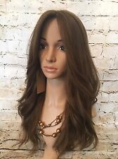 "Brand NEW Virgin Human Hair Kosher Wig Sheitel 24"" Medium Brown 6/8/10"