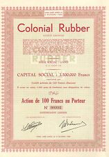 Colonial Rubber SA, accion, 1936 (Siege: Gand, Eccles Rubber and Cycle Company)