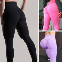 Women's Stretchy Gym Yoga Pants Fitness Leggings High Waisted Causal Trousers