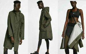 WOMENS NikeLab Collection PARKA JACKET SIZE L (AJ2123 325) OLIVE GREEN