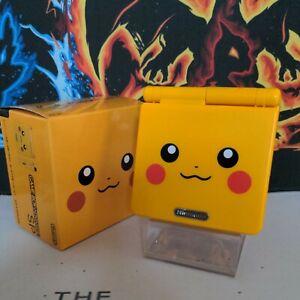 Pokemon Pikachu GameBoy Advance SP GBA SP Backlit IPS Screen 850mAh Battery