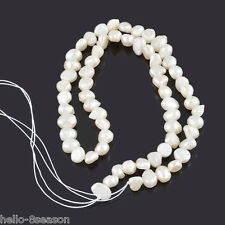 3Strand Natural Pearl Loose Beads 5x5mm-9x6mm,37cm long