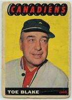 1965-66 Topps Hockey #1 Hector ''Toe'' Blake Coach F-G Condition (2020-11)