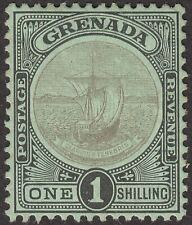 Grenada 1908 KEVII Badge of Colony 1sh Black on Green Mint SG82 cat £50