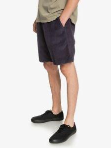 "Quiksilver Men's Parisian Night Taxer 17"" Elasticated Cord Shorts Size:  XL"