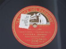 LA VOCE DEL PADRONE 78 RECORD DA 225 ITALY FEDORA BENIAMINO GIGLI BEJAMIN