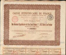 CAISSE HYPOTHÉCAIRE DE FRANCE (J)