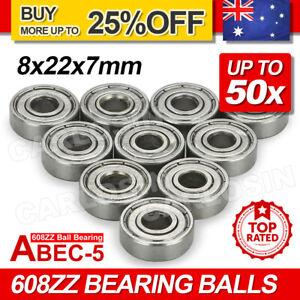 10-50X NEW 608ZZ Ball Bearing PREMIUM ABEC-5 CNC Skateboard 3D Printer RepRap OZ