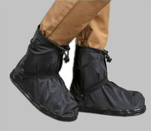 Unisex Reusable Shoe Covers Flat Waterproof Overshoes Anti-slip Rain Boot Gear