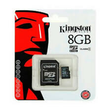 MEMORY CARD KINGSTON MICRO SD 8GB SDHC CARD FOR MOBILE PHONE CAMERA CLASS 4