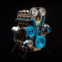 New Metal Assembled Four-cylinder Inline Gasoline Engine Model KIT Birthday Gift